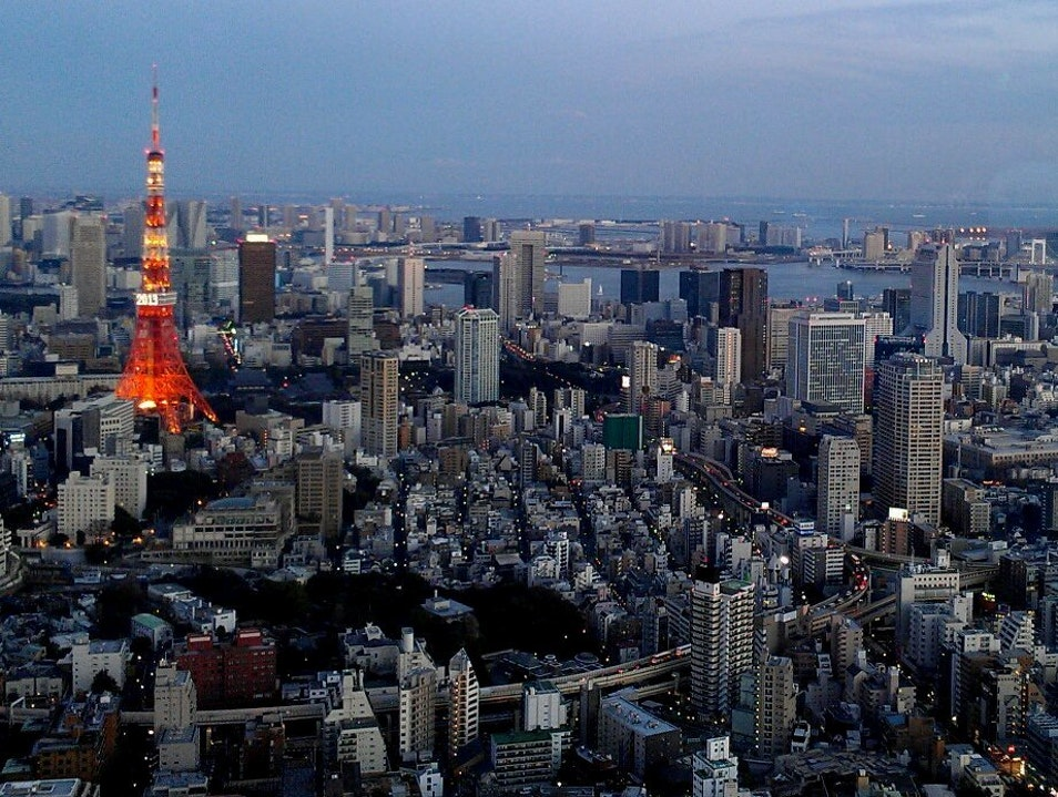 A Glowing Tokyo Tower