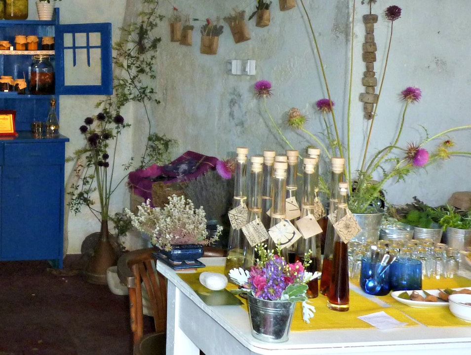 Sample homemade goodies at this pretty little shop