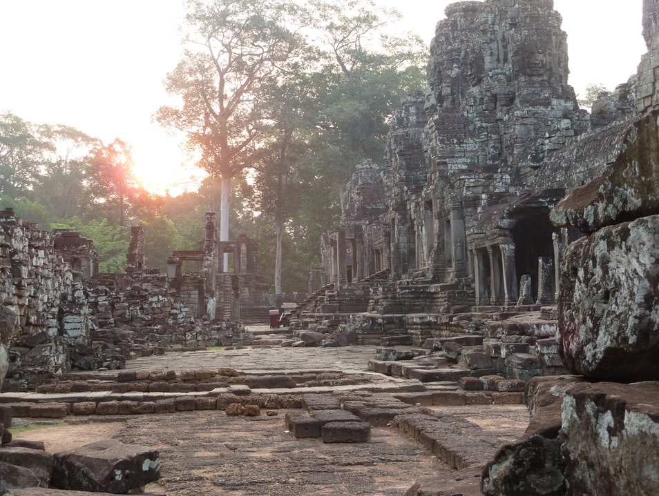 Sunrise at the The Bayon Temple