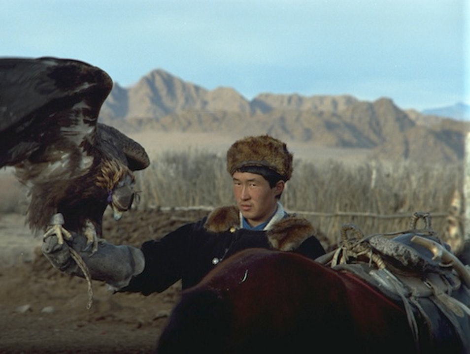 """Eagle Hunters"" in Mongolia Olgii  Mongolia"