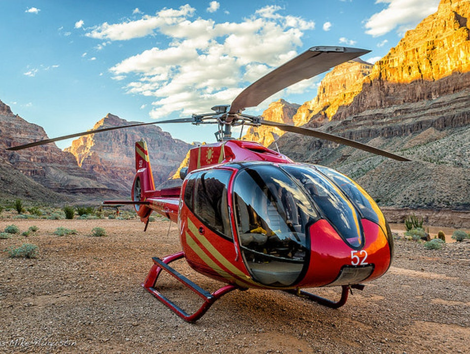 Grand Canyon Helicopter's EC130 at the West Rim North Rim Arizona United States