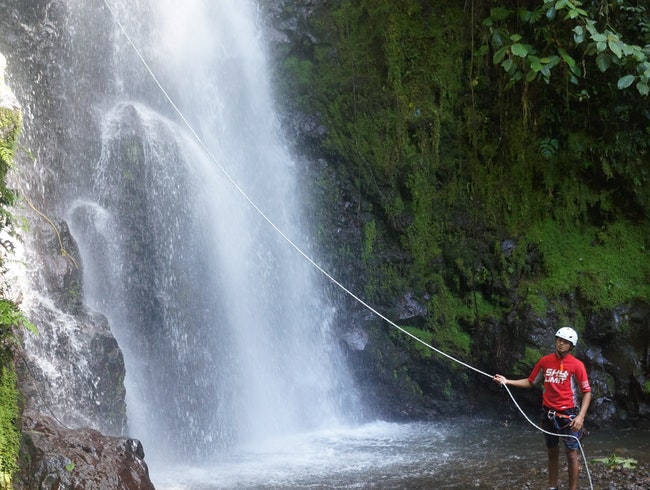 hike, rappel, and zip-line through the rainforest