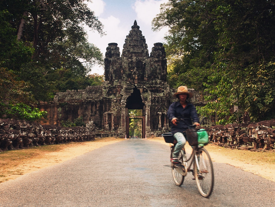 Roll on and Keep Calm, Angkor Wat, Siem Reap Province, Cambodia.
