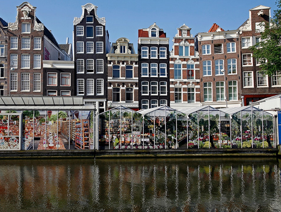 The Bloemenmarkt: The World's Only Floating Flower Market Amsterdam  The Netherlands