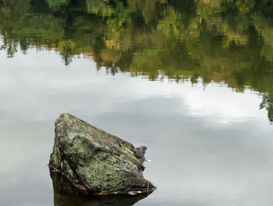 Beside Still Waters in Mirror Lake Woodstock New Hampshire United States