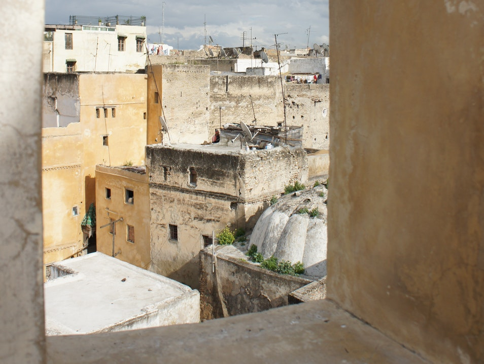 Rooftops of Fes from the Nejjarine Museum Fes  Morocco