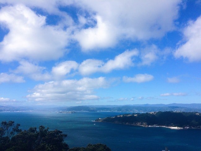 One of the views from the top of Mt Victoria.