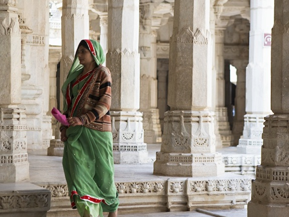 Woman in Jain Temple Jodhpur  India