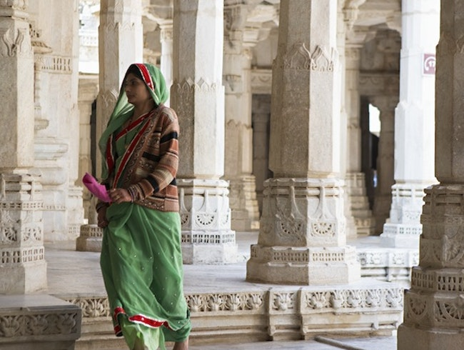Woman in Jain Temple