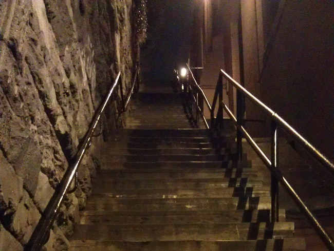 Iconic Stone Stairs Near Georgetown University