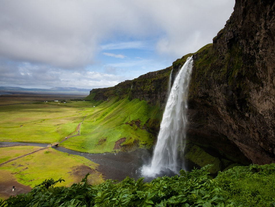 Trail Running to the Base of One of Europe's Largest Waterfalls South  Iceland