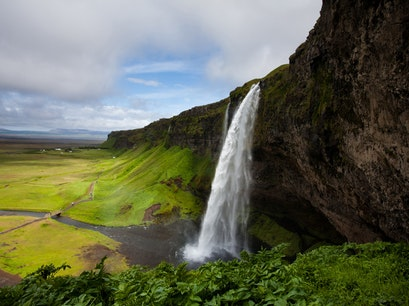 Seljalandsfoss Waterfall South  Iceland