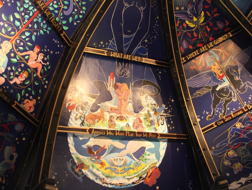 Alasdair Gray's Mural at Òran Mór Glasgow  United Kingdom
