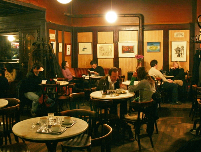 Enjoy true Vienna dining at Café Hawelka