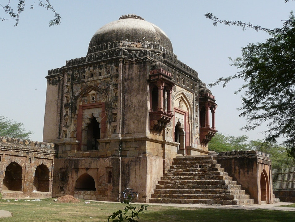 Cycling in Mehrauli New Delhi  India