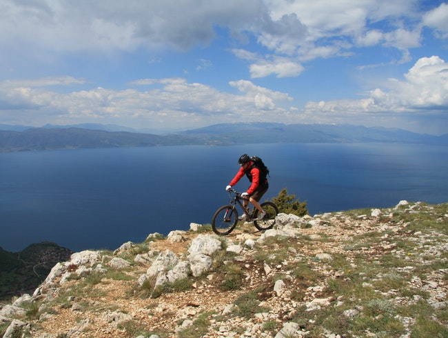 Cycling in the Galicica National Park