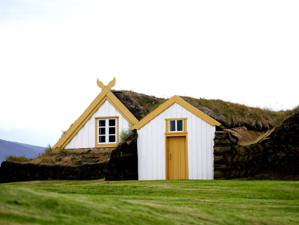 Turf Homes at Glaumbær Farm Northwest  Iceland