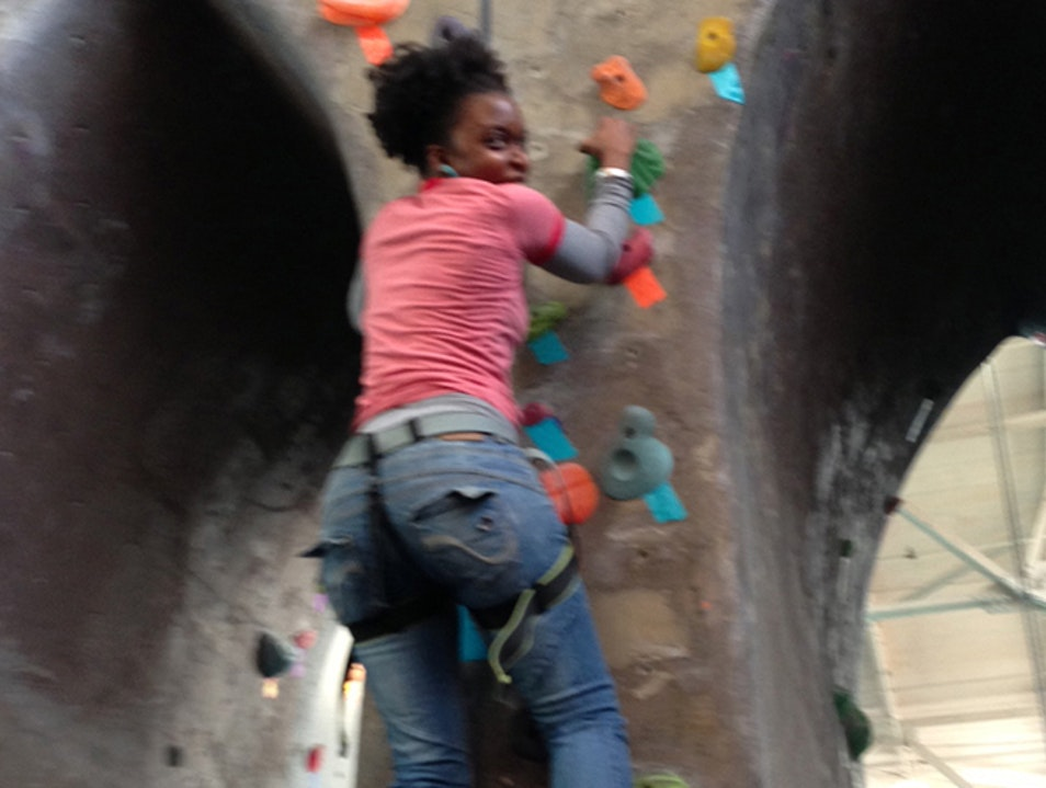Who says you can't rock climb in Brooklyn?