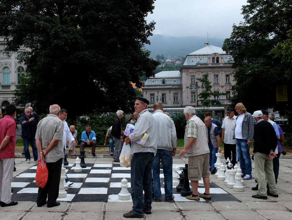 Lifesize Chess in Sarajevo Sarajevo  Bosnia and Herzegovina