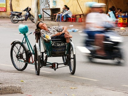 District 5 Cyclo Ride Ho Chi Minh City  Vietnam