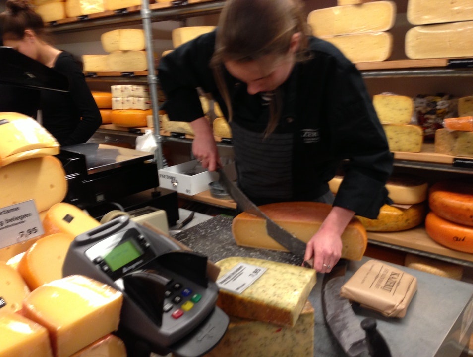 Inhale the ripe aroma of massive rounds of Dutch cheese at Karzerij Stalenhoef