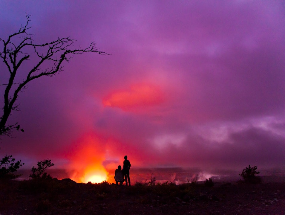 The Glowing Spectacle of Kilauea Pāhoa Hawaii United States