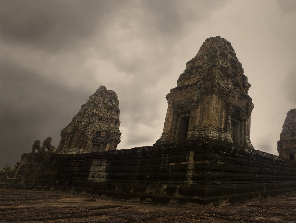 Quick stop on the way to other temples Prasat Bakong  Cambodia