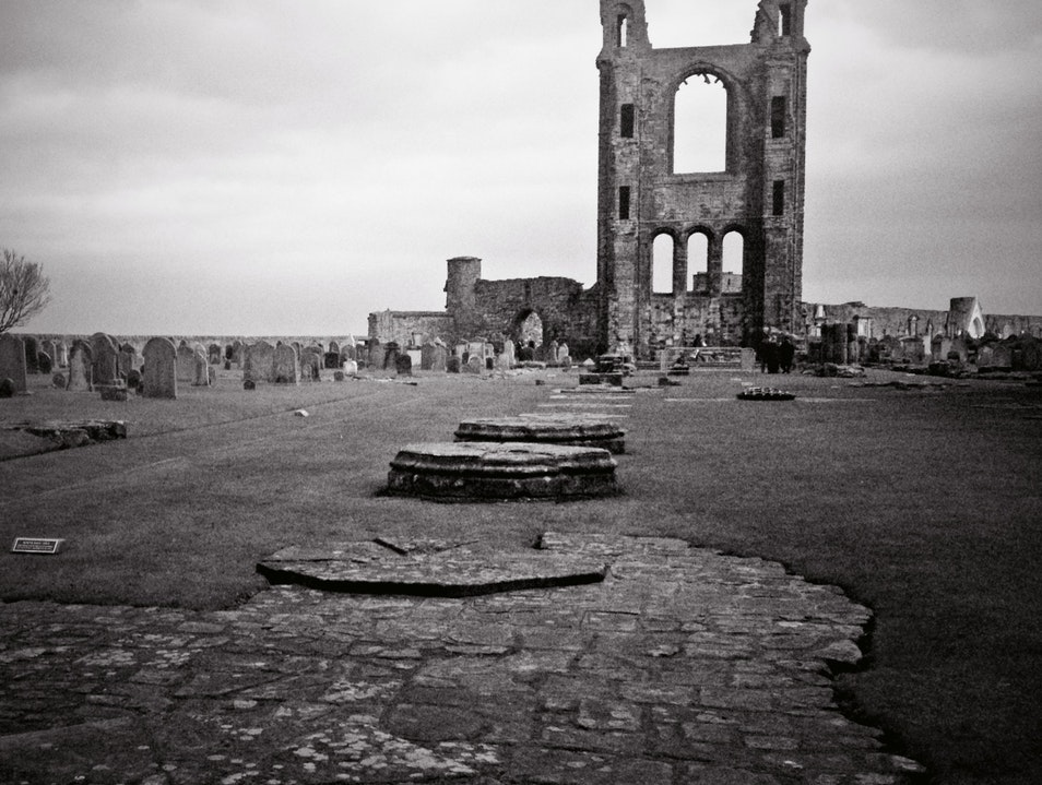 Medieval Ruins on the Edge of the North Sea Saint Andrews  United Kingdom