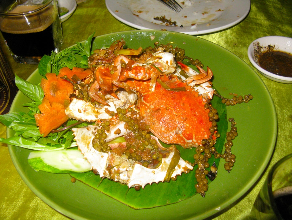 Kampot Green Pepper Crab Kep  Cambodia