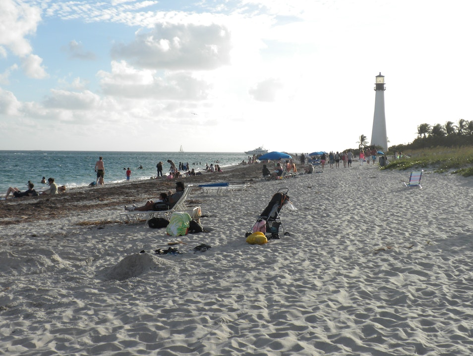 Beautiful Beach at Bill Baggs Cape Key Biscayne Florida United States