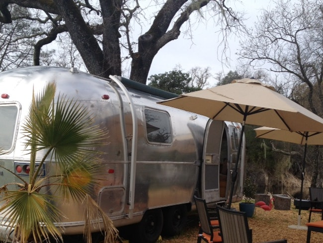 Wine Tasting in an Airstream