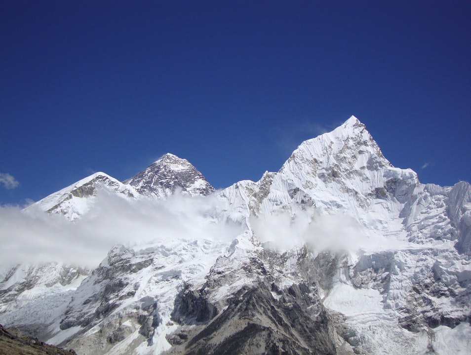 Mount Everest, Highest peak of the world. Tokha  Nepal