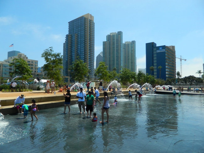 Cool off at the Waterfront Park in San Diego