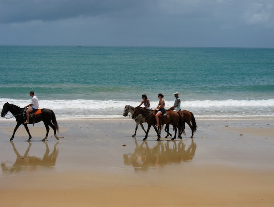 Ride a horse on the beach Porto Seguro  Brazil