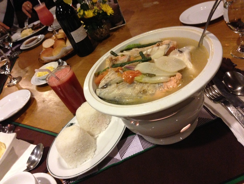Sinigang: a new type of soup Baguio City  Philippines