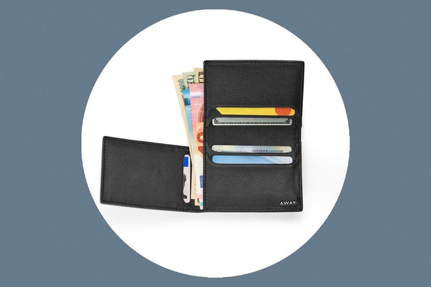 The L-Fold Wallet includes RFID protection and is available in Black and Coast.