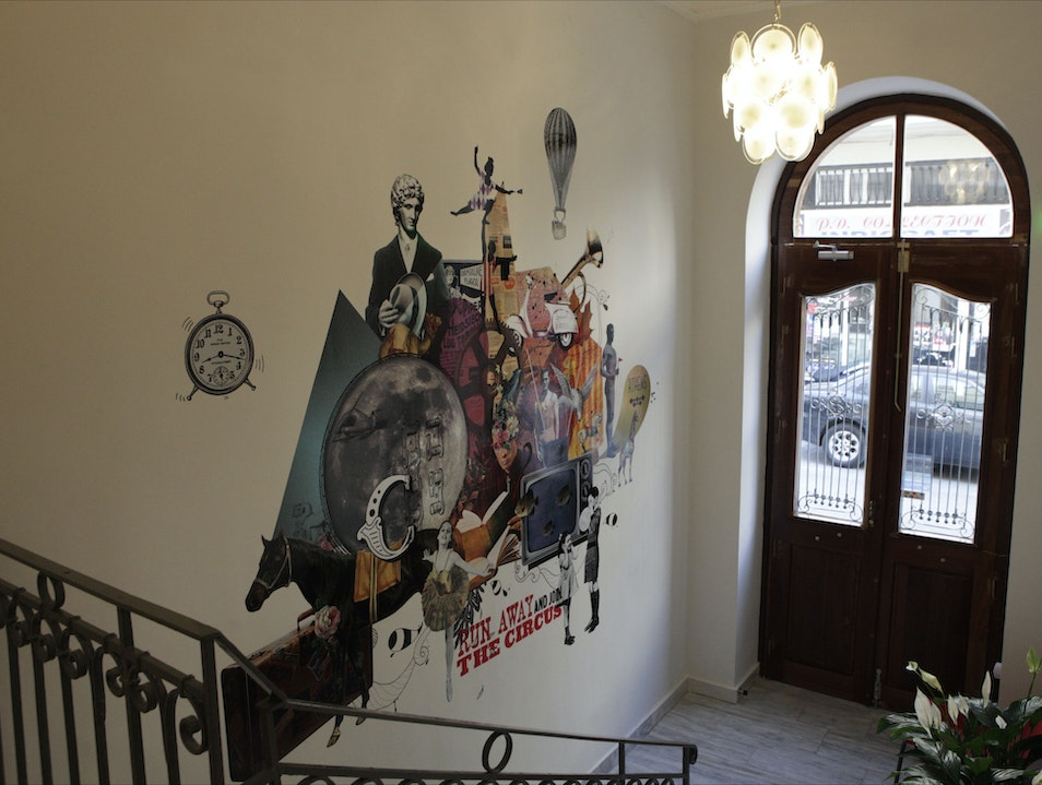 Street Art Meets Baroque at the City Circus Hostel Athens  Greece
