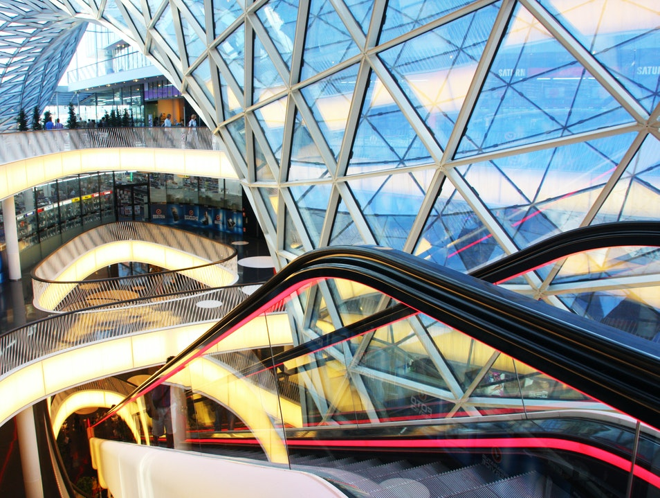 Shopping in an Architectural Icon at MyZeil Frankfurt  Germany
