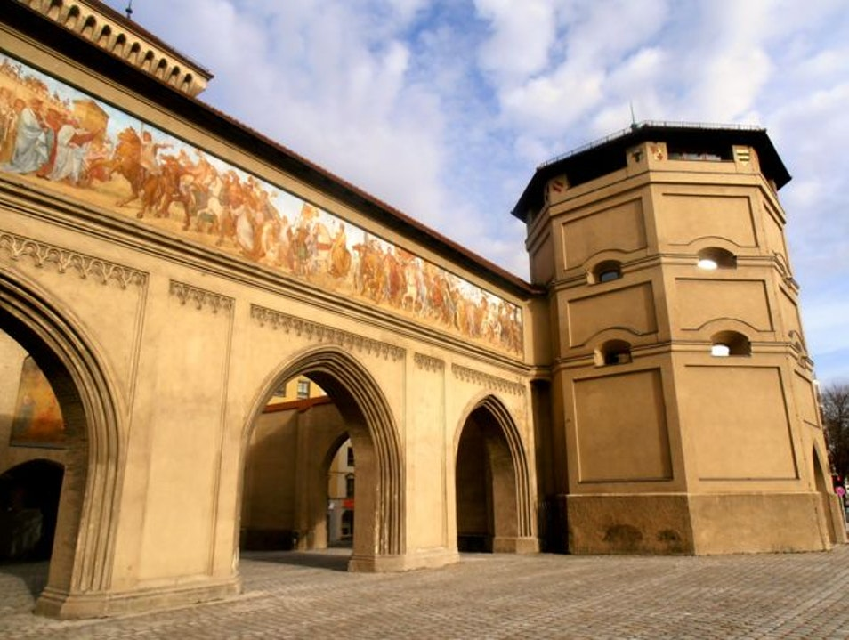 Isator:  A City Gate with Murals Munich  Germany