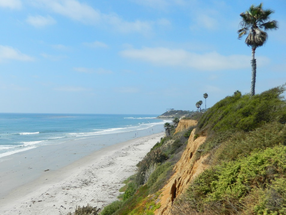 Swami's Beach- surfing destination in CA Encinitas California United States