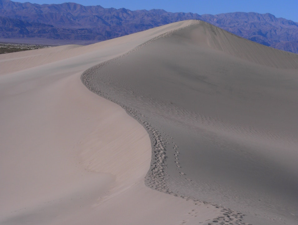 Some Time The Shortest Distance Between Two Points Is A Curved Line DEATH VALLEY California United States