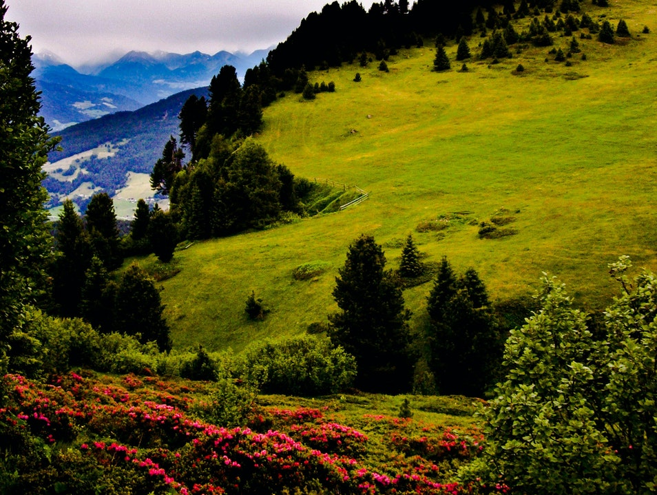 Hiking the Italian Alps Campitello di Fassa  Italy