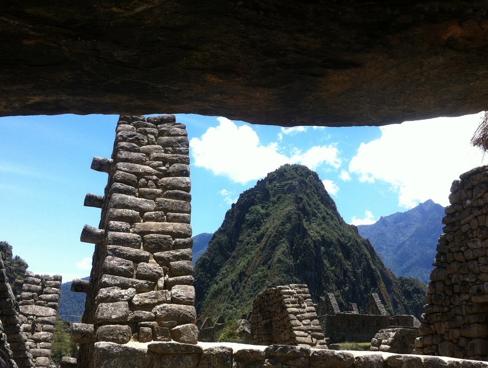 Bird's Eye View of Machu Picchu from Huayna Picchu Santuario Historico Machu Picchu  Peru