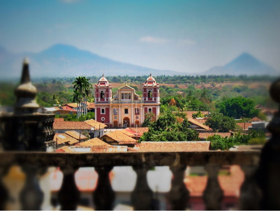 View from the cathedral roof León  Nicaragua