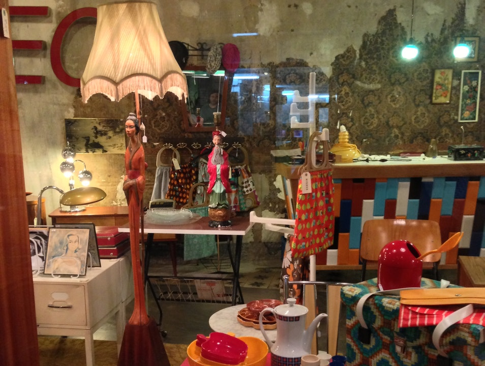 Browse vintage housewares and furniture at Fusta'm Barcelona  Spain