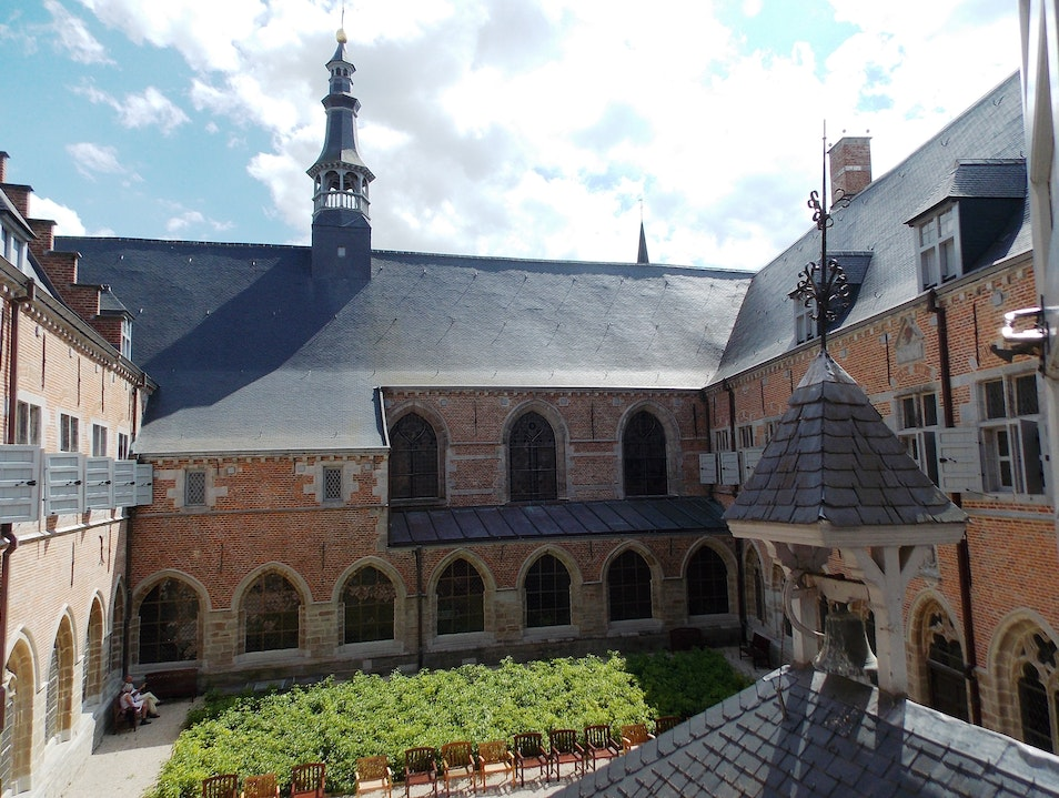 The cloisters at Hopital Notre Dame a la Rose