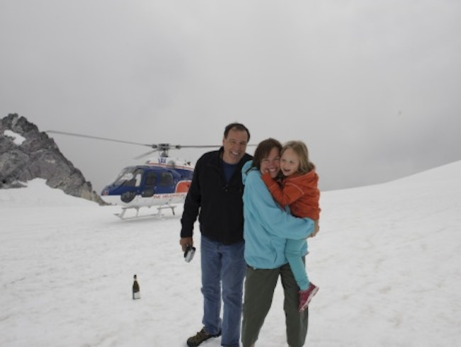 Helicopter ride to Milford Sound from Queenstown, NZ