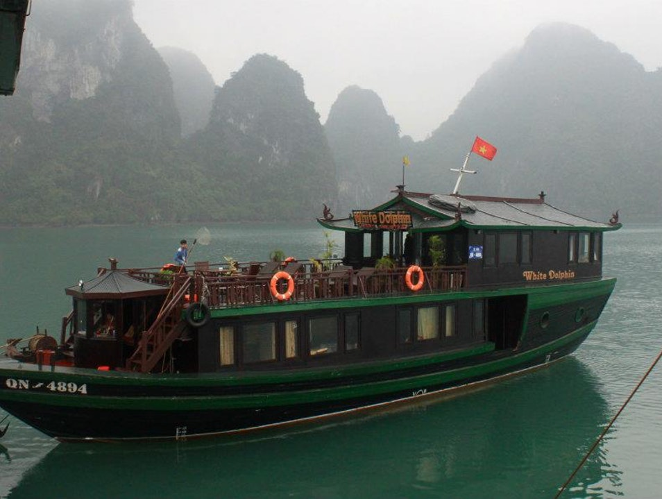 White Dolphin boat in Halong bay