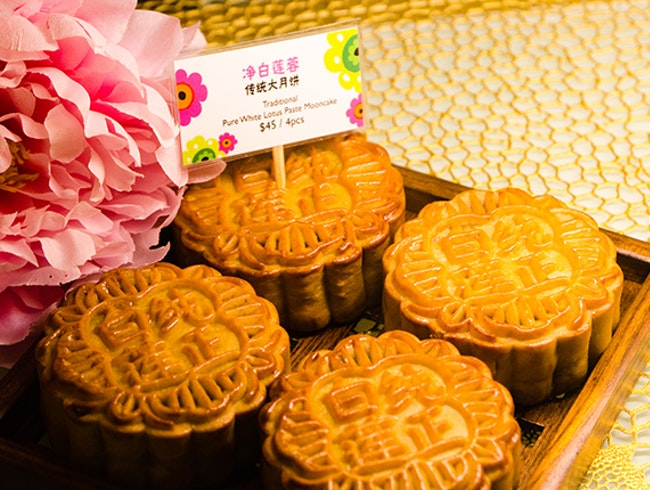Sample Mooncakes during Mid-Autumn Festival