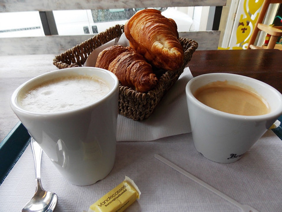 A Coastal Cuppa with Croissants